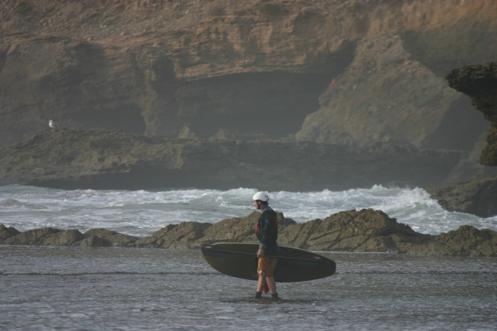 Studying the point break at Tafadna, Morocco