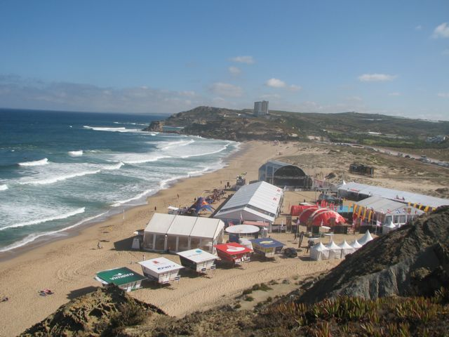 Main event site here at the surf break at Santa Rita