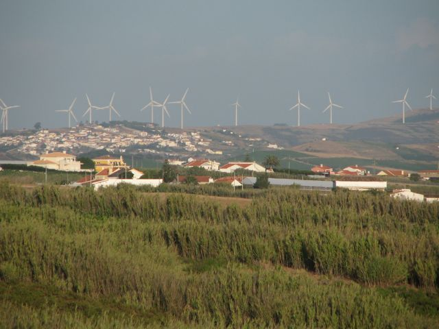 The wind in Portugal blows across the ocean making beautiful waves before it is recycled into wind-energy, truly resourceful.