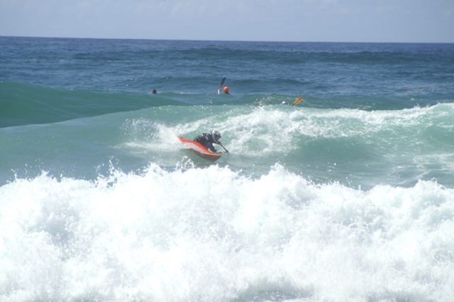 This is me doing a cutback in practice today.  Photo by Andy Gates
