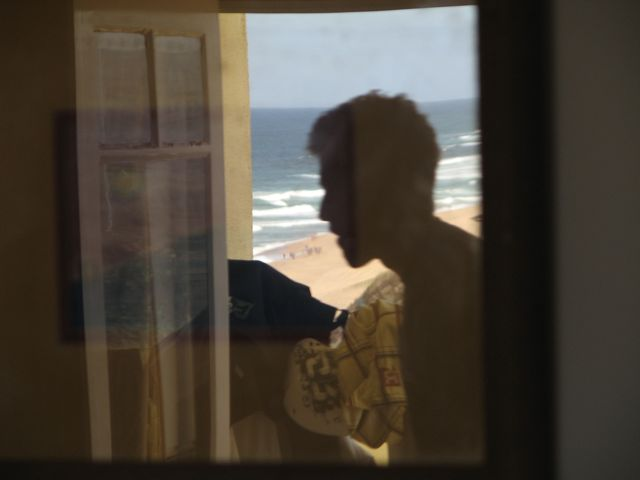 The view of the surf from our room.  We took one last surf session outside the hotel at Praia Azul the day before we left.